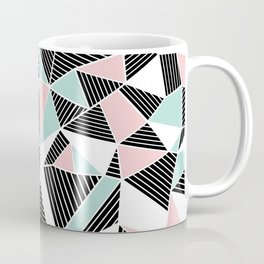 AbLines with Blush Mint Blocks Coffee Mug