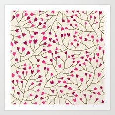 Floral seamless pattern. Art Print