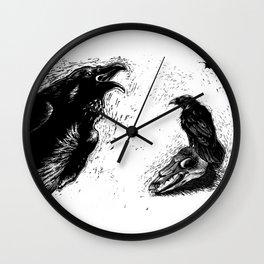Halloween Raven Wall Clock