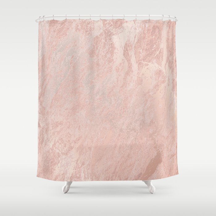 Rose Gold Foil Shower Curtain
