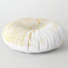 JERSEY CITY NEW JERSEY STREET MAP ART Floor Pillow