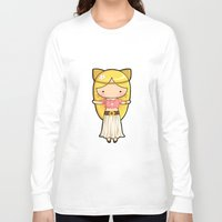 boho Long Sleeve T-shirts featuring Boho Kitty by Joanna Zhou