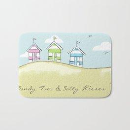 Pastel Beach Huts Bath Mat