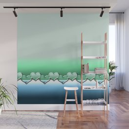 Heart lenses pattern Wall Mural