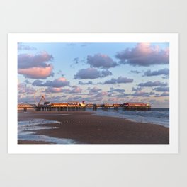 Blackpool Central Pier Sunset Art Print