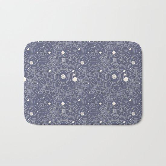Blue Scribbles Pattern 08 Bath Mat