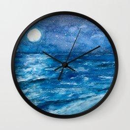 Enigma1 Seascape Original Watercolor Wall Clock