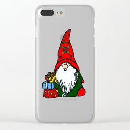 Yule Gnome Clear iPhone Case