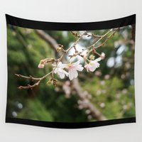 sakura Wall Tapestries featuring sakura by artsimo