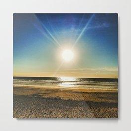 Sun Sand and Surf Metal Print