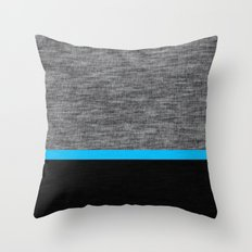 Athletic Grey and Blue Throw Pillow
