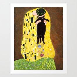 Kiss (black) Art Print