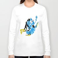 "finding nemo Long Sleeve T-shirts featuring ""just keep swimming"" (Finding Nemo- Dory) by Art of Fernie"