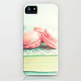 Pink Macaroons and Mint old book  iPhone Case