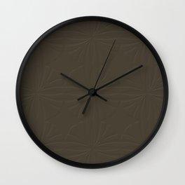 Deep Bronze Taupe Wall Clock