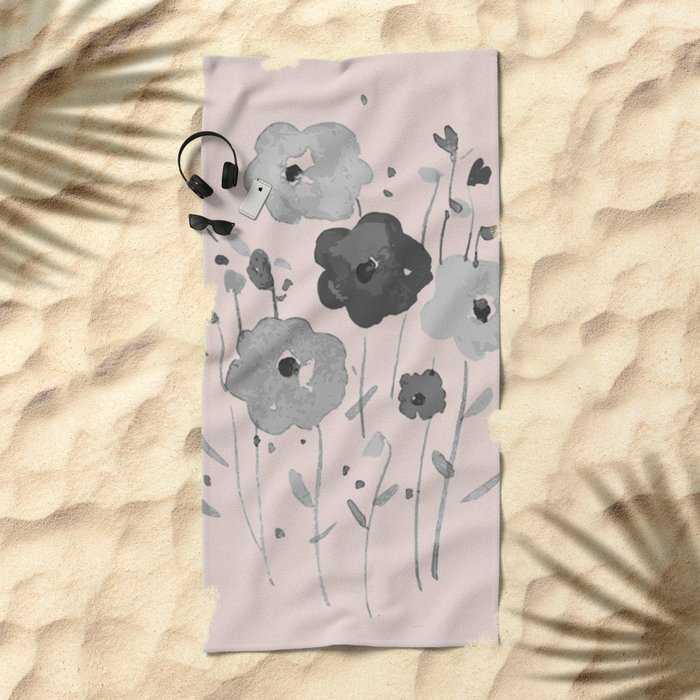 Whimsical spring bloom Beach Towel
