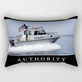 Authority: Inspirational Quote and Motivational Poster Rectangular Pillow