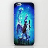 nebula iPhone & iPod Skins featuring Blue Pillars of Creation nEBULA  by 2sweet4words Designs