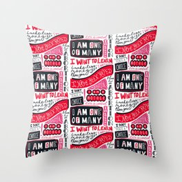One Of Many Throw Pillow