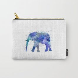Blue Watercolor Elephant Carry-All Pouch