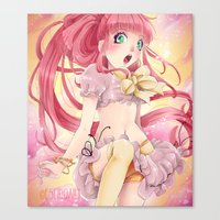 princess bubblegum Canvas Prints featuring Princess Bubblegum by Elisa Ellie Serio