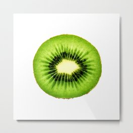 Kiwi Fruit Slice Metal Print