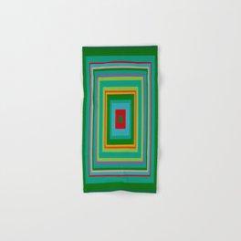 """""""Pop Ring Green""""   Op art Hand & Bath Towel"""
