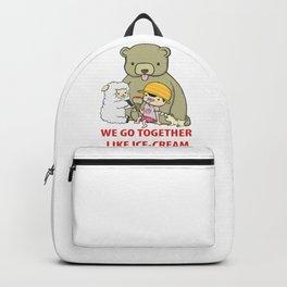 We Go Together Like Ice-Cream Backpack
