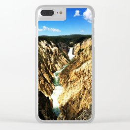Lower Falls of the Yellowstone Clear iPhone Case
