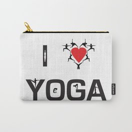 I heart Yoga Carry-All Pouch