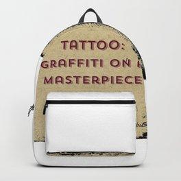 Tattoo:  Graffiti on a Masterpiece Backpack