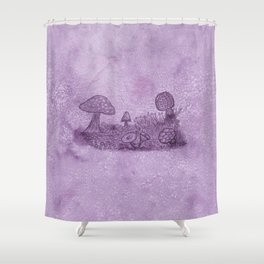 Fungi Meadow Shower Curtain
