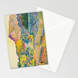 Henri-Edmond Cross Neo-Impressionism Landschaft mit Le Cap Nègre Paysage avec le cap Nègre Stationery Cards