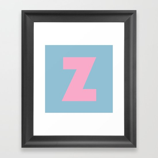 Z is for... Framed Art Print