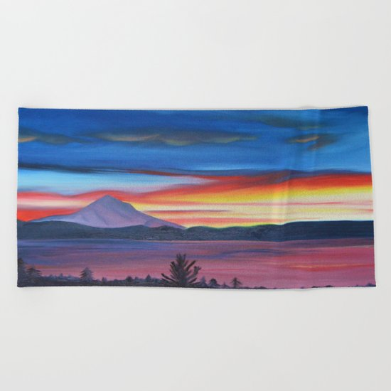 Our Side of The Mountain, Pacific Northwest Mountain Series Beach Towel