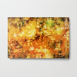 Colors of Autumn Abstract Metal Print