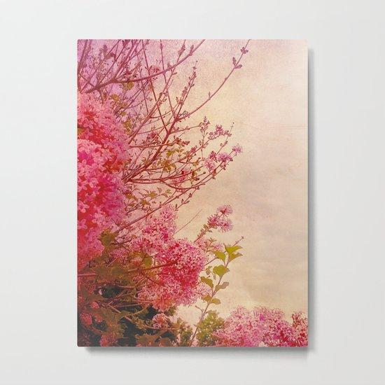 Pink Lilacs Metal Print