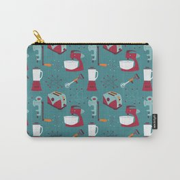 Retro Kitchen - Teal and Raspberry Carry-All Pouch