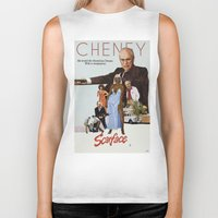 scarface Biker Tanks featuring Cheney Scarface by vipez