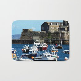 Boats in the Harbour Bath Mat