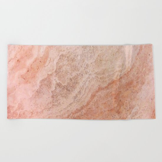 Polished Rose Gold Marble Beach Towel