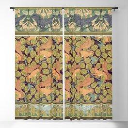 Martinets et chevrefeuille bordure Ecureuils et noisetier papier peint Oiseaux et noisetier en fleur Blackout Curtain