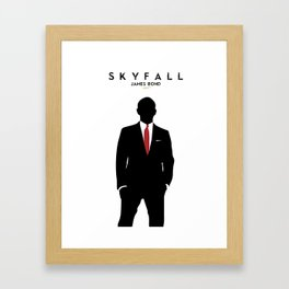 Skyfall, James Bond,minimalist design , alternative poster, Daniel Craig, Javier Bardem, Sam Mende Framed Art Print