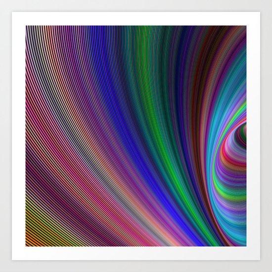 Vivid storm Art Print