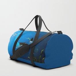 Carefree Mermaids Swimming Under the Sea Duffle Bag