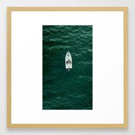 Fishermen from above. Framed Art Print