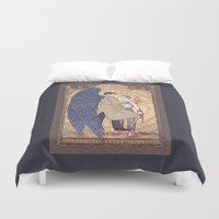 dean winchester Duvet Covers featuring Angelic Intervention (Dean Winchester is Saved) by KARADIN