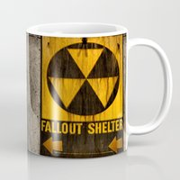 fallout Mugs featuring Fallout Shelter by Julie Maxwell