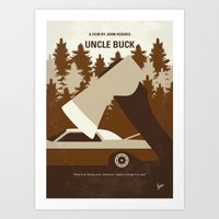 No818 My Uncle Buck minimal movie poster Art Print
