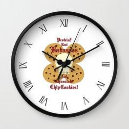 Real Badasses Eat Cookies! Wall Clock